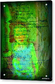 Annotations For A Life Acrylic Print by Paulo Zerbato
