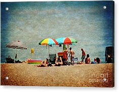 Another Day At The Beach Acrylic Print by Mary Machare