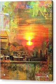 Another Day In Poverty Acrylic Print by Fania Simon