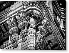 Ansonia Building Detail 46 Acrylic Print by Val Black Russian Tourchin
