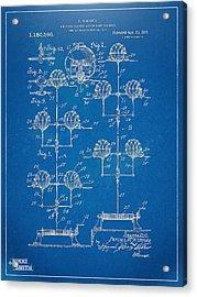 Anti-aircraft Air Mines Patent Artwork 1916 Acrylic Print by Nikki Marie Smith