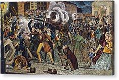 Anti-catholic Mob, 1844 Acrylic Print by Granger