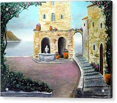 Antica Villa Sul Mare Acrylic Print by Larry Cirigliano