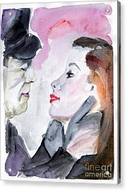 Anticipation Of A Kiss  Acrylic Print by Ginette Callaway