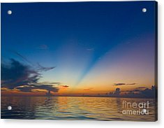 Anticrepuscular Rays Acrylic Print by Jen TenBarge
