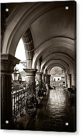 Antigua Arches Acrylic Print by Tom Bell