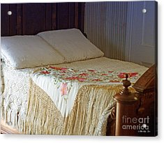 Antique Bed Acrylic Print by Methune Hively