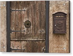 Antique Dutch Door And Mailbox Acrylic Print by Will & Deni McIntyre