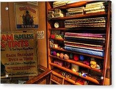 Antique General Store Linen - General Store - Vintage - Nostalgia Acrylic Print by Lee Dos Santos