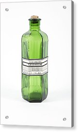 Antique Laudanum Bottle Acrylic Print by Gregory Davies, Medinet Photographics
