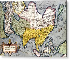 Antique Map Of Asia Acrylic Print by Claes Jansz
