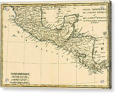 Antique Map Of Southern Mexico Acrylic Print by Guillaume Raynal