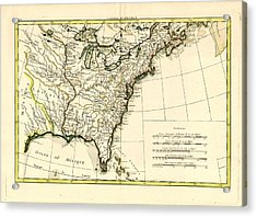 Antique Se United States Map Acrylic Print by Unknown