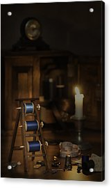 Antique Sewing Items Acrylic Print by Amanda And Christopher Elwell