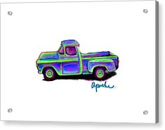 Apache Acrylic Print by Dana Vogel