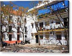 Apartment Houses In Marbella Acrylic Print by Artur Bogacki