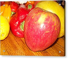 Apple And Fruit Acrylic Print by Laurie Kidd