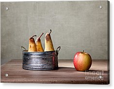 Apple And Pears 01 Acrylic Print by Nailia Schwarz