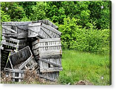 Apple Crates Acrylic Print by JC Findley