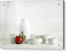 Apple Acrylic Print by Matild Balogh