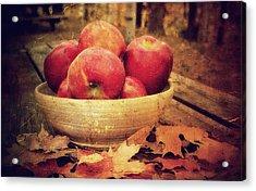 Apples Acrylic Print by Kathy Jennings