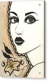 Arabel Acrylic Print by Nora Blansett