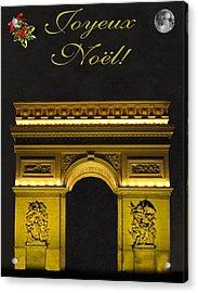 Arc De Triomphe Paris Christmas Acrylic Print by Eric Kempson