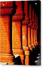 Archaic Columns Acrylic Print by Karen Wiles