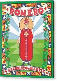 Archbishop Romero Icon Acrylic Print by David Raber