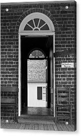 Arched Doors Appomattox Virginia Acrylic Print by Teresa Mucha