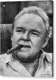 Archie Bunker Acrylic Print by Elizabeth Coats