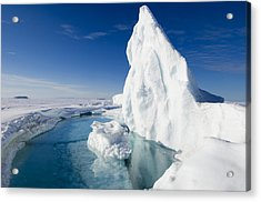 Arctic Sea Ice Melting, Canada Acrylic Print by Louise Murray