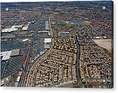 Arial View Of Las Vegas Acrylic Print by Susan Stone