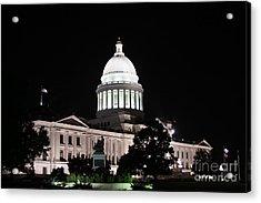 Arkansas State Capital Acrylic Print by Joe Finney