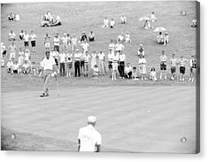 Arnold Palmer Waits At 1964 Us Open At Congressional Country Club Acrylic Print by Jan W Faul