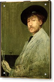 Arrangement In Grey - Portrait Of The Painter Acrylic Print by James Abbott McNeill Whistler