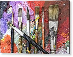 Art Is Messy 6 Acrylic Print by Carol Leigh