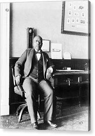 Arthur Simmons, African American White Acrylic Print by Everett