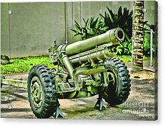 Artillery Acrylic Print by Cheryl Young