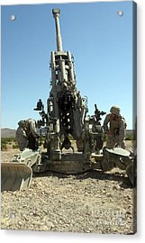 Artillerymen Manning The M777 Acrylic Print by Stocktrek Images
