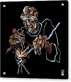 Artist Murano Glass Hand Made - Disegno Scuola Vetro Artistico Italia Acrylic Print by Arte Venezia