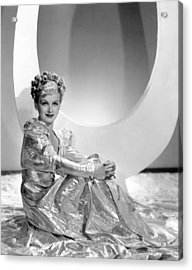 Artists And Models Abroad, Joan Bennett Acrylic Print by Everett