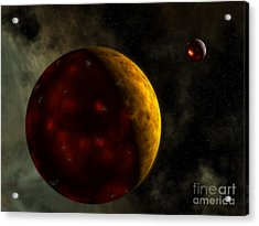 Artists Concept Of A Young, Turbulent Acrylic Print by Walter Myers