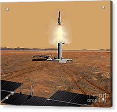 Artists Concept Of An Ascent Vehicle Acrylic Print by Stocktrek Images