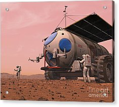 Artists Concept Of How A Martian Acrylic Print by Walter Myers