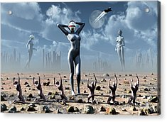 Artists Concept Of Mankinds Reliance Acrylic Print by Mark Stevenson