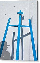 Artists Shadow Acrylic Print by Salvator Barki