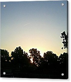 As The Sun Prepared To Rise.... #sky Acrylic Print by Kel Hill