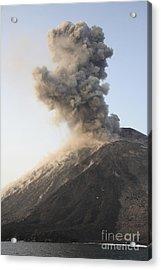 Ash Cloud From Vulcanian Eruption Acrylic Print by Richard Roscoe