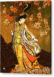 Asian Woman Acrylic Print by Alexandra  Sanders